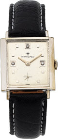 Timepieces:Wristwatch, Hamilton, Lord Lancaster CC, White Rolled Gold Plate and S...