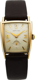 Timepieces:Wristwatch, Hamilton, Khyber, 10K Yellow Goldfilled and Stainless Steel, Manual Wind, Circa 1959. ...