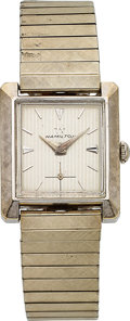 Timepieces:Wristwatch, Hamilton, Bradwell, 10K White Goldfilled, Manual Wind, Circa 1964. ...