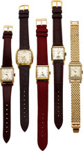 Timepieces:Wristwatch, Hamilton Yellow Goldfilled Lester, Bailey, Blake, Brent, a...