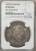 Chile, Chile: Republic 8 Reales 1839 So-IJ VF Details (Reverse Scratched)NGC,...