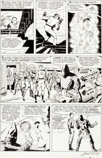 Jack Kirby and George Roussos Fantastic Four #21 Story Page 17 Original Art (Marvel, 1963)