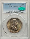 Franklin Half Dollars: , 1959-D 50C MS66 Full Bell Lines PCGS. CAC. PCGS Population: (157/2). NGC Census: (39/3). CDN: $475 Whsle. Bid for problem-f...
