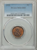 Lincoln Cents: , 1921 1C MS64 Red and Brown PCGS. PCGS Population: (286/85). NGCCensus: (127/56). CDN: $90 Whsle. Bid for problem-free NGC/...