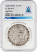 Explorers:Space Exploration, Coins: 1878 7TF REV OF 79 $1 VF DETAILS CLEANED NGC Morgan Silver Dollar Directly From The Armstrong Family Collection™, CAG C...