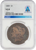 Explorers:Space Exploration, Coins: 1889 $1 VG8 NGC Morgan Silver Dollar Directly From The Armstrong Family Collection™, CAG Certified....