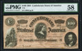 Confederate Notes:1864 Issues, T65 $100 1864 PF-3 Cr. 494 PMG Choice About Unc 58.. ...