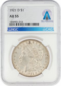 Explorers:Space Exploration, Coins: 1921-D $1 AU55 NGC Morgan Silver Dollar Directly From The Armstrong Family Collection™, CAG Certified. ...