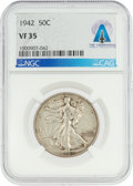 Explorers:Space Exploration, Coins: 1942 50¢ VF35 NGC Walking Liberty Half Dollar Directly From The Armstrong Family Collection™, CAG Certified. ...