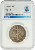 Explorers:Space Exploration, Coins: 1943-S 50¢ VG10 NGC Walking Liberty Half Dollar Directly From The Armstrong Family Collection™, CAG Certified. ...