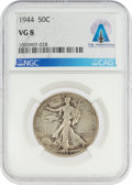 Explorers:Space Exploration, Coins: 1944 50¢ VG8 NGC Walking Liberty Half Dollar Directly From The Armstrong Family Collection™, CAG Certified....