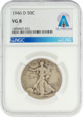 Explorers:Space Exploration, Coins: 1946-D 50¢ VG8 NGC Walking Liberty Half Dollar Directly From The Armstrong Family Collection™, CAG Certified. ...