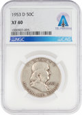 Explorers:Space Exploration, Coins: 1953-D 50¢ XF40 NGC Franklin Half Dollar Directly From The Armstrong Family Collection™, CAG Certified. ...