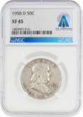 Explorers:Space Exploration, Coins: 1958-D 50¢ XF45 NGC Franklin Half Dollar Directly From The Armstrong Family Collection™, CAG Certified. ...