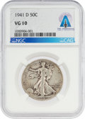 Explorers:Space Exploration, Coins: 1941-D 50¢ VG10 NGC Walking Liberty Half Dollar Directly From The Armstrong Family Collection™, CAG Certified. ...