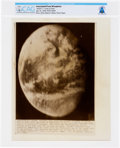 "Explorers:Space Exploration, AP Original Wirephotos: ""Apollo 11 Looks at Earth"" July 16, 1969, Directly From The Armstrong Family Collection™, CAG Cert..."