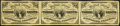 Fractional Currency:Third Issue, Fr. 1226 3¢ Third Issue Uncut Horizontal Strip of Three Very Fine.. ...