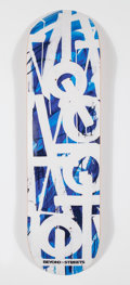 Collectible:Contemporary, RETNA X BTS. Untitled (Blue), 2018. Offset lithograph in colors on skate deck. 32 x 8 inches (81.3 x 20.3 cm). Edition o...