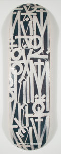 Collectible:Contemporary, RETNA X BTS. Untitled (Black), 2018. Offset lithograph in colors on skate deck. 32 x 8 inches (81.3 x 20.3 cm). Edition ...