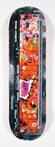 Collectible:Contemporary, Futura 2000 X Martha Cooper X BTS. Untitled, 2019. Offset lithograph in colors on skate deck. 32 x 8 inches (81.3 x 20.3...