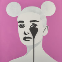 Pure Evil (Welsh, b. 1968) Audrey Mouse Club, 2018 Stencil spray paint on canvas 30 x 30 inches (