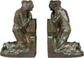 Bronze, A Pair of Louis McClellan Potter Bronze Praying MonksBookends, New York, 1911. Marks: Incised Louis Potter, 1...(Total: 2 Items)
