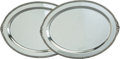 Silver & Vertu:Hollowware, Two International Silver Co. Lord Robert Pattern Silver Trays, Meridian, Connecticut, 20th century. Marks: Lor... (Total: 2 Items)