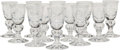 Art Glass, Twelve Steuben 7877 Pattern Cordial Glasses, Corning, NewYork, mid-20th century. Marks: Engraved Steuben. 3...(Total: 12 Items)
