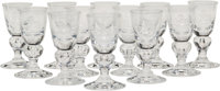 Twelve Steuben 7877 Pattern Cordial Glasses, Corning, New York, mid-20th century