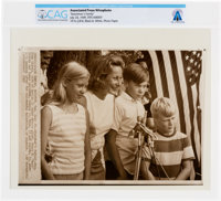 "AP Original Wirephotos: ""Spaceman's Family"" July 24, 1969, Directly From The Armstrong Family Collection™, CAG..."