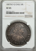 Chile, Chile: Charles IV 8 Reales 1807 So-FJ XF45 NGC,...
