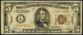 Error Notes:Miscellaneous Errors, Misaligned Back Error Fr. 2302 $5 1934A Hawaii Federal Reserve Note. Very Good-Fine.. ...