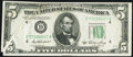 Error Notes:Gutter Folds, Gutter Fold Error Fr. 1962-D $5 1950A Federal Reserve Note. AboutUncirculated.. ...
