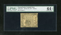 Colonial Notes:Pennsylvania, Pennsylvania October 25, 1775 9d PMG Choice Uncirculated 64EPQ.Bold embossing and superb paper quality are both clearly evi...