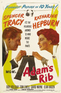 """Movie Posters:Comedy, Adam's Rib (MGM, 1949). One Sheet (27"""" X 41""""). George Cukordirected Spencer Tracy and Katharine Hepburn in this terrificall..."""