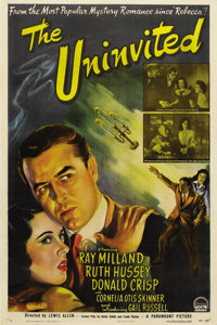 """The Uninvited (Paramount, 1944). One Sheet (27"""" X 41""""). An excellent romance/ghost story starring Ray Milland..."""