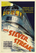 "Movie Posters:Action, The Silver Streak (RKO, 1934). One Sheet (27"" X 41""). This filmfeatured future ""B"" Western star Charles Starrett designing ..."