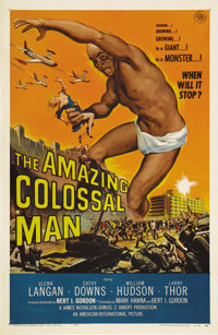 "The Amazing Colossal Man (AIP, 1957). One Sheet (27"" X 41""). Producer Bert I. Gordon made a career of turning..."
