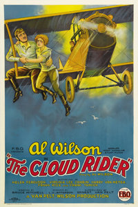 """The Cloud Rider (FBO, 1925). One Sheet (27"""" X 41""""). Al Wilson, """"The World's Most Amazing Stunt Flyer,&quo..."""