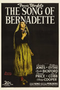 "Movie Posters:Drama, The Song of Bernadette (20th Century Fox, 1943). One Sheet (27"" X41"") Style B. Based on the true story of a young French gi..."