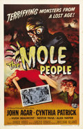 "Movie Posters:Science Fiction, The Mole People (Universal International, 1956). One Sheet (27"" X41""). John Agar and Hugh Beaumont star as heads of an arch..."
