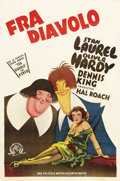 "Movie Posters:Comedy, The Devil's Brother (MGM, 1933). Spanish Language One Sheet (27"" X41""). Stan Laurel and Oliver Hardy are Stanlio and Ollio,..."