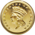 Proof Gold Dollars: , 1881 G$1 PR66 Deep Cameo PCGS. This is a rare issue in proof grades, regardless of the numerical level. The mintage was onl...