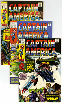 Captain America #129-150 Group (Marvel, 1970-72) Condition: Average NM-.... (Total: 22)