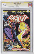 Bronze Age (1970-1979):Horror, Tomb of Dracula #27 and 58 CGC Signature Series Group (Marvel,1974-77) CGC FN/VF 7.0 White pages on both.... (Total: 2)