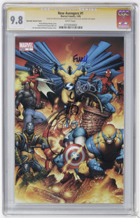 The New Avengers #1 and 7 CGC Signature Series Group (Marvel, 2005).... (Total: 2)