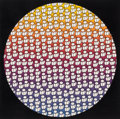 Prints & Multiples:Print, PEZ (Spanish, b. 1976). Happiness Circle, 2017. Screenprint in colors on Coventry Rag paper. 16 x 16 inches (40.6 x 40.6...