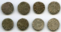 """Crusader States, Crusader States: Principality of Antioch 8-Piece Lot of Uncertified Assorted Bohemond """"Helmet"""" Deniers ND VF,... (Total: 8 coins)"""