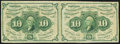 Fractional Currency:First Issue, Fr. 1242 10¢ First Issue Uncut Horizontal Pair Very Fine.. ...