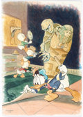 Animation Art:Production Drawing, Patrick Block The Case of the Missing Mummy Donald Duck and Nephews Original Art (Disney, 1990's)....